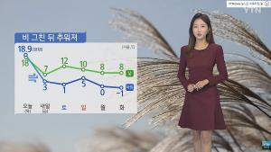 [오늘의 날씨] 전국에 내린 비 오후에 대부분 그친다... 낮 최고 23도 미세먼지 좋음